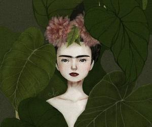 drawings, frida kahlo, and plants image