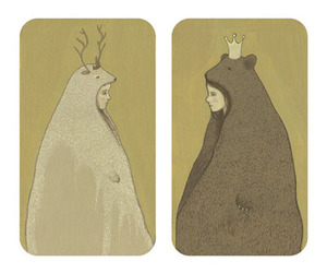 crown, antlers, and art image