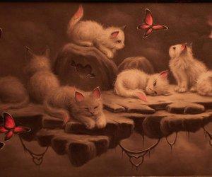 animals, art, and butterflies image