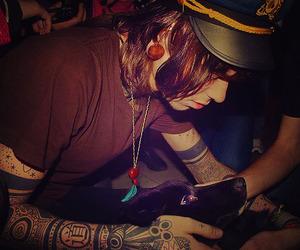 christofer drew, never shout never, and tattoo image