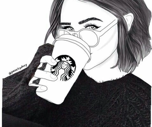 starbucks, outline, and tumblr image