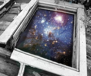 Dream, galaxy, and universe image