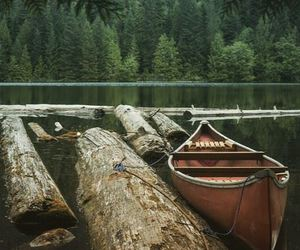 boat, river, and trees image