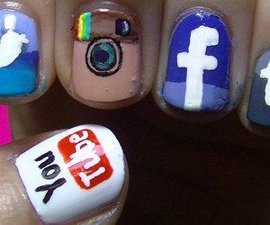 facebook, nail, and you tube image
