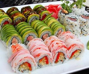 sushi, food, and fashion image