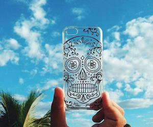 case, iphone, and skull image