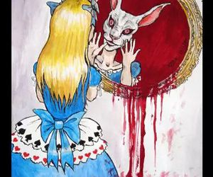 alice, blood, and alice in wonderland image