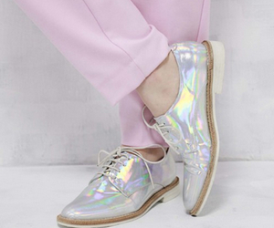 shoes, hologram, and style image