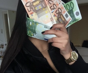 money, girl, and tumblr image