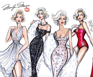 fashion, Marilyn Monroe, and illustration image
