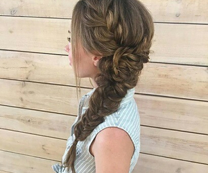 hairstyle, ombre, and highlights image