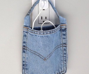 diy, iphone, and jean image