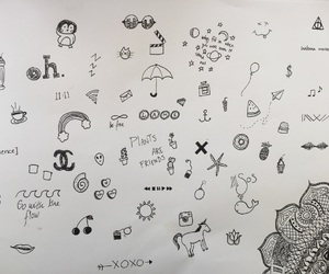 blackandwhite, doodles, and drawing image