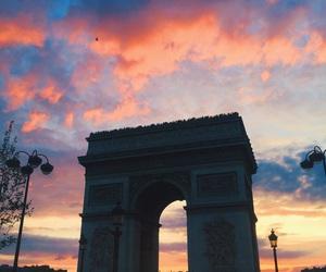 paris, sky, and travel image