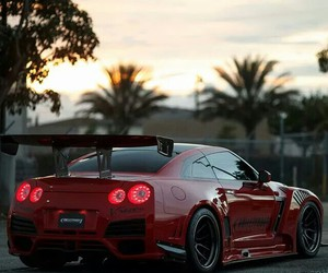 nissan, gtr, and red image