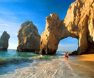 beach and mexico image