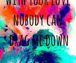 one direction, drag me down, and love image