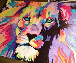 colors and lion image