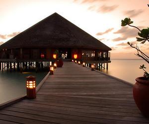 luxury, sea, and sunset image