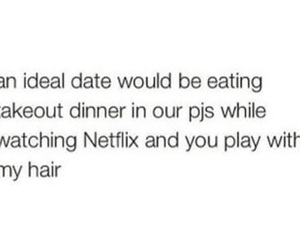 date, eating, and hair image