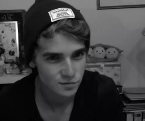 joe sugg, youtuber, and black and white image