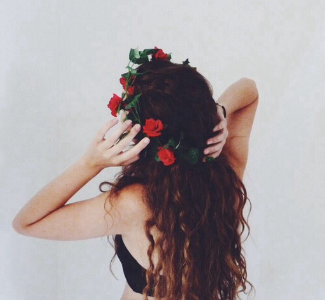Adorable Brunette Crown Curly Hair Cute Fashion Flower Girl Girly Hairstyle Tumblr Image 3100770 By Ksenia L On Favim Com