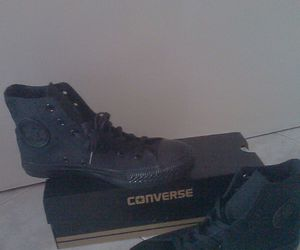 all star, converse, and total black image