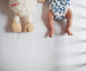 baby, bed, and legs image