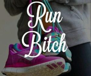 run, bitch, and nike image