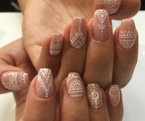 beutiful, nails, and white image
