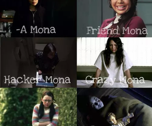 mona, pretty little liars, and pll image