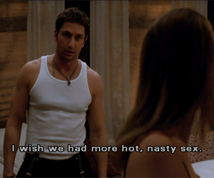 gerard butler, hilary swank, and screen cap image