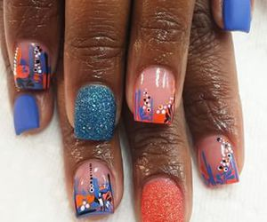 colorful, jewelry, and nails image