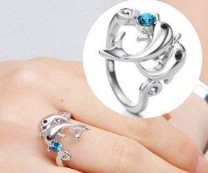 dolphin, ring, and Swarovski image