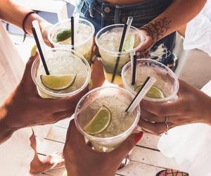 drink, friends, and lemon image