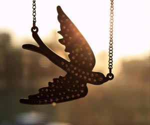 bird, necklace, and jewelry image