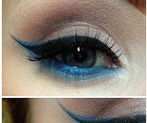 beauty, blue, and fashion image