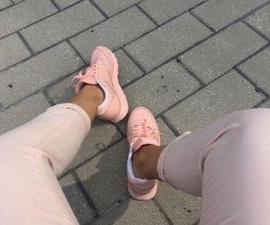 fashion, pink, and shoe image