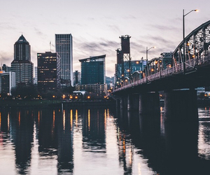 city, pdx, and fall image