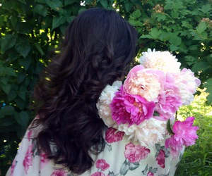 curls, flowers, and fashion image