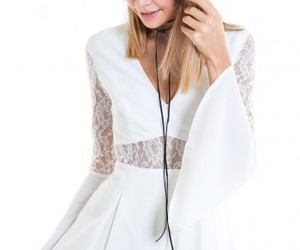 dress, lace dress, and ustrendy image
