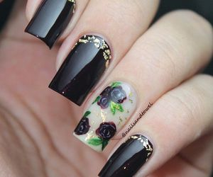 black, manicure, and pretty image