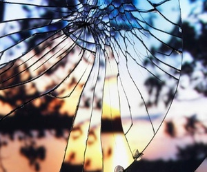 broken and glass image