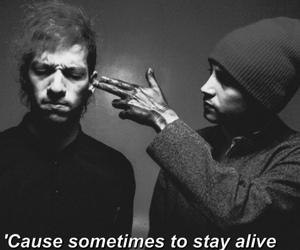 black and white, Lyrics, and migraine image