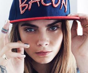 cara delevingne, model, and bacon image
