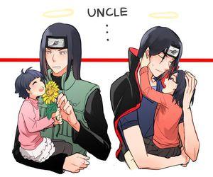 naruto, itachi, and neji image