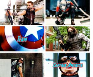 captain america, civil war, and falcon image