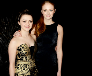 sophie turner, maisie williams, and mophie image