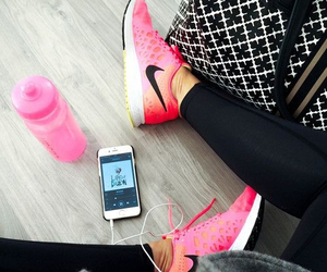 nike, fitness, and pink image