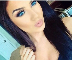 beautiful, eyes, and blue eyes image